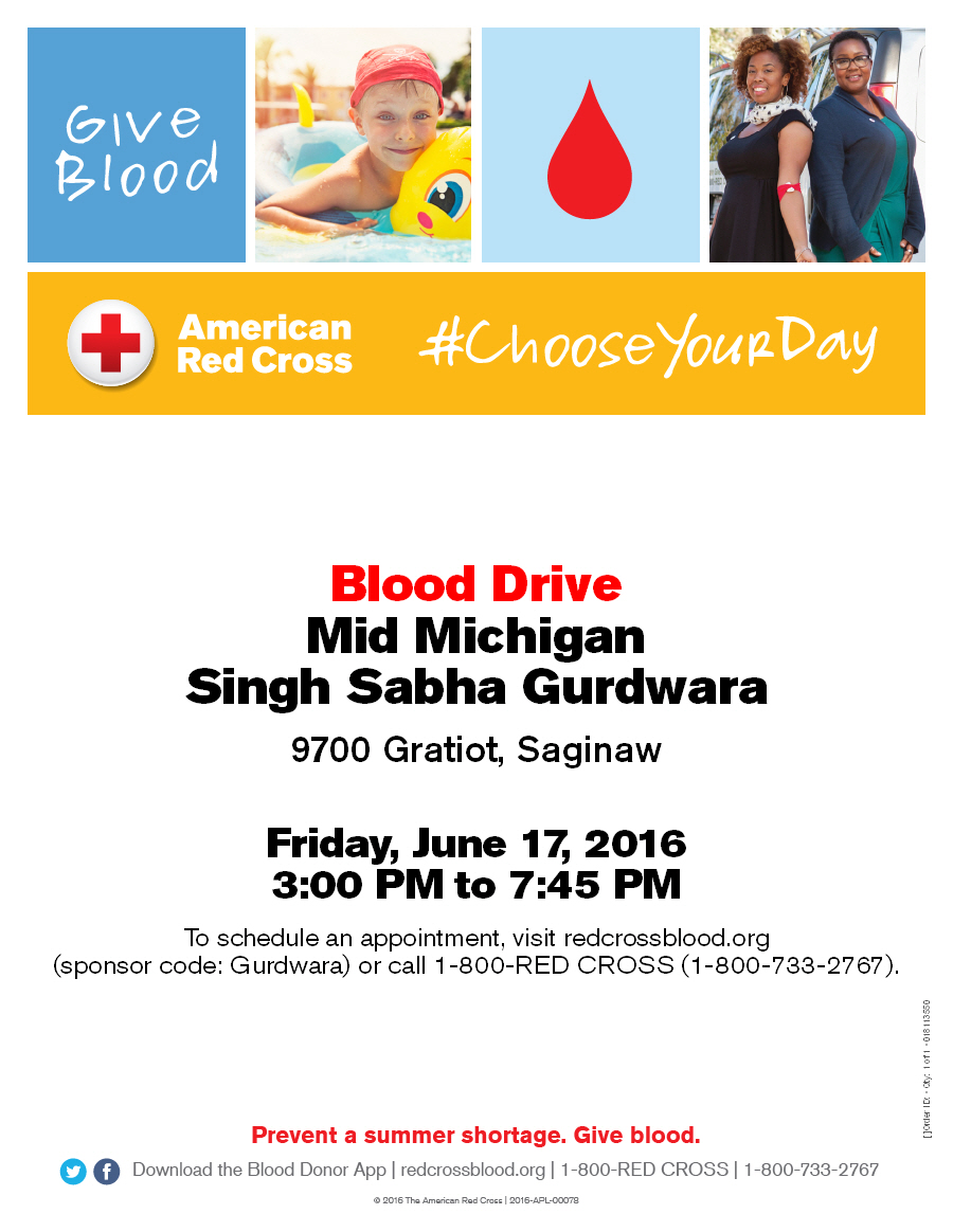 Blood Drive at Gurdwara Sahib